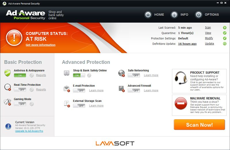 Lavasoft - Ad-Aware Personal Security