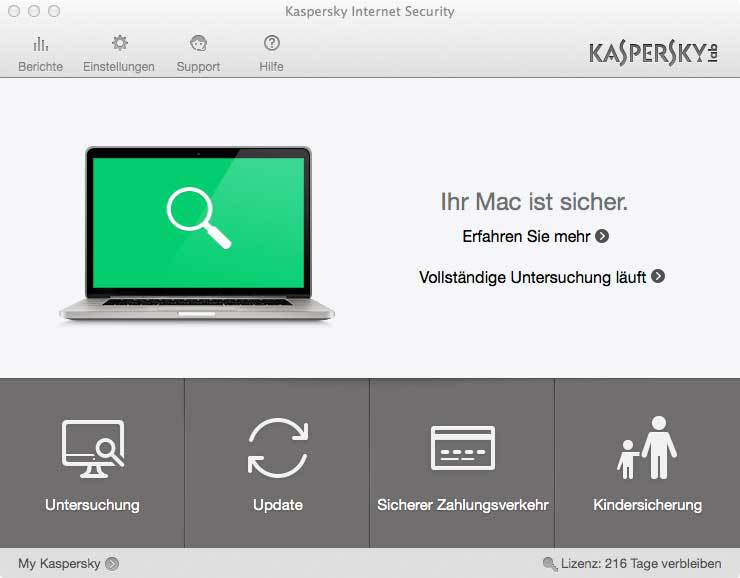 Produktbild zu Kaspersky - Internet Security for Mac - 1 Jahr & 1 PC