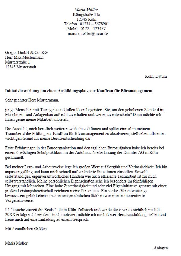 ᐅ Bewerbungsschreiben Kaufmann Frau Fur 12