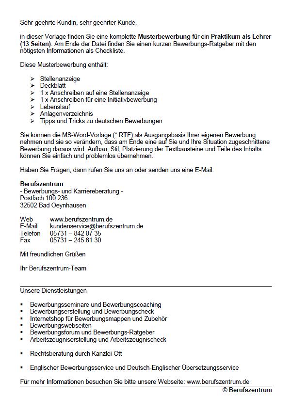 Bewerbung Lehrer Berlin