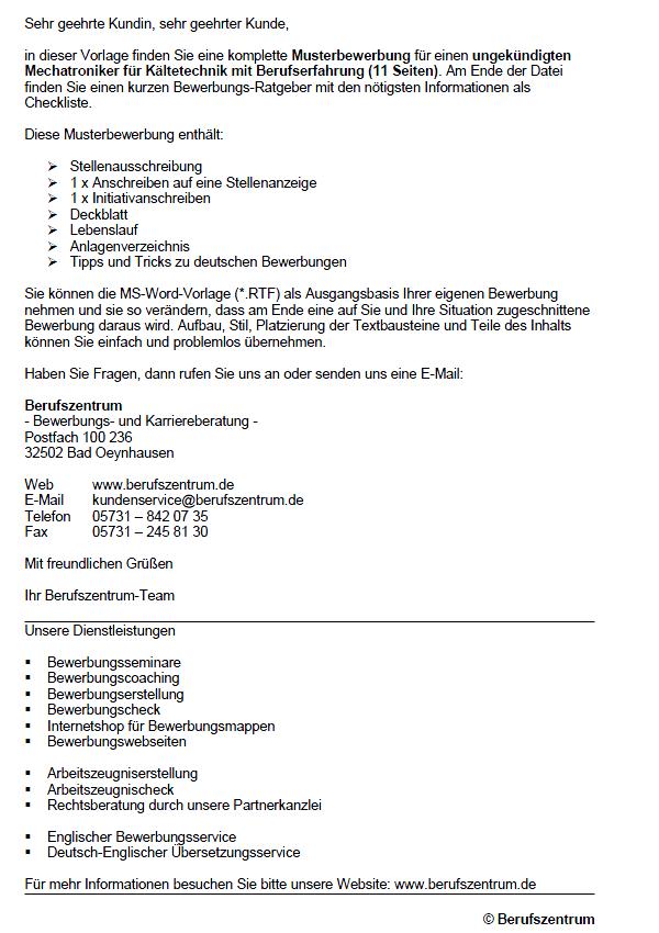 Billig Bewerbung Kfz Mechatroniker Ausbildung 14