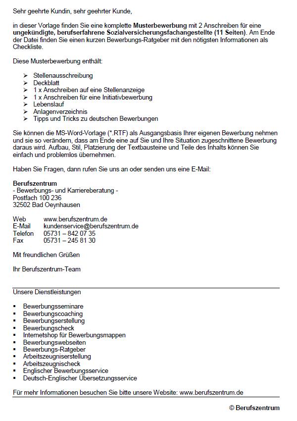 Bewerbung Zur Ausbildung Sozialversicherungsfachangestellter 3