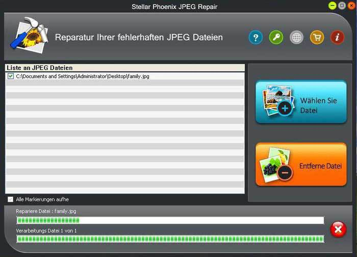 Produktbild zu Stellar Information Technology Private Limited - Stellar Phoenix JPEG Repair