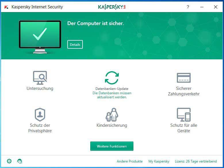 Kaspersky - Internet Security 2017 1 Jahr 3 PC