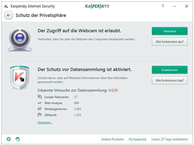 Kaspersky - Internet Security 2017 1 Jahr 5 PC