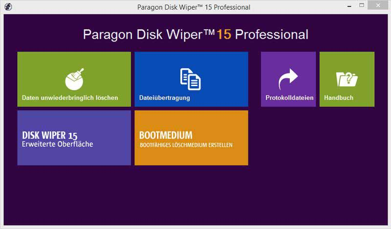 Paragon Software - Paragon Disk Wiper 15 Professional
