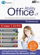 Produktbild zu Avanquest DE - Ability Office 7 Professional - 5 User 10 PC