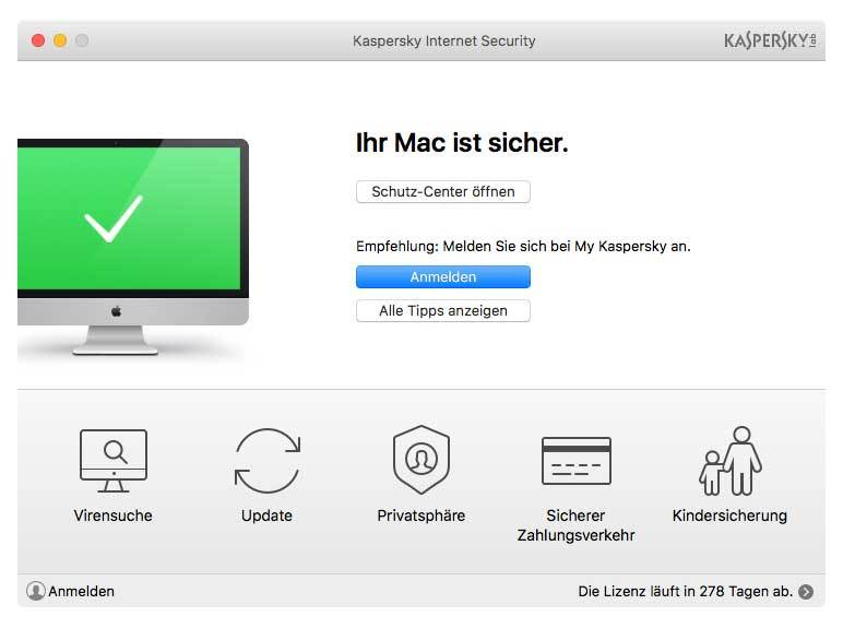 Kaspersky - Internet Security for Mac 1 Jahr 1 PC - Upgrade