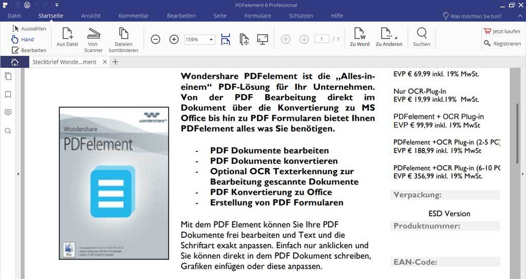 Wondershare - PDFelement 6 Professional Windows