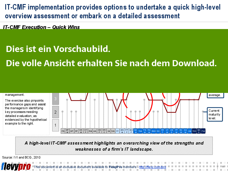 IT-CMF Execution – Quick Wins (Einsicht in die Folie).