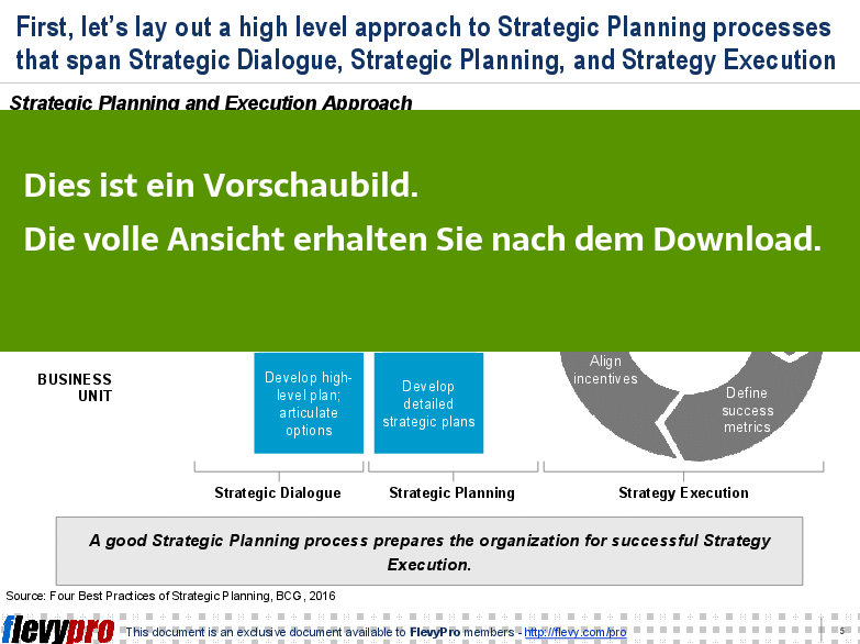 Strategic Planning and Execution Approach - Folieneinsicht