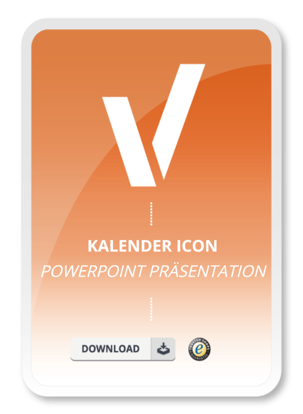 Kalender Icon Powerpoint Präsentation Muster