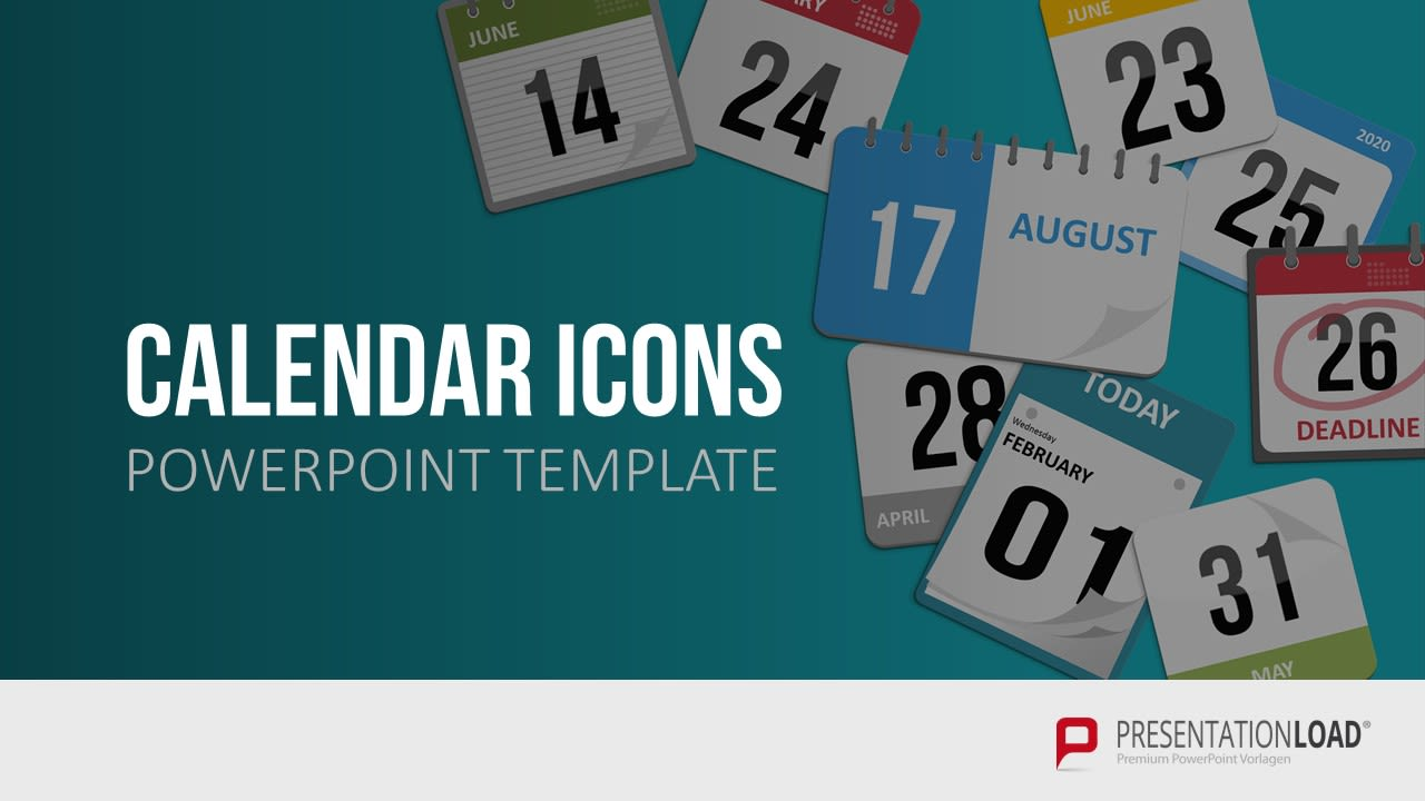 Powerpoint Präsentation - Kalender Icon