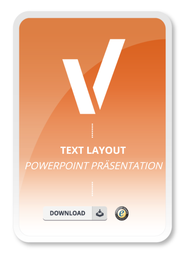 Text Layout Powerpoint Präsentation Muster