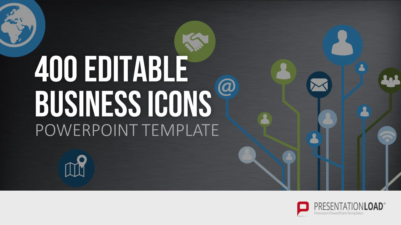 Powerpoint Präsentation - Business Icon