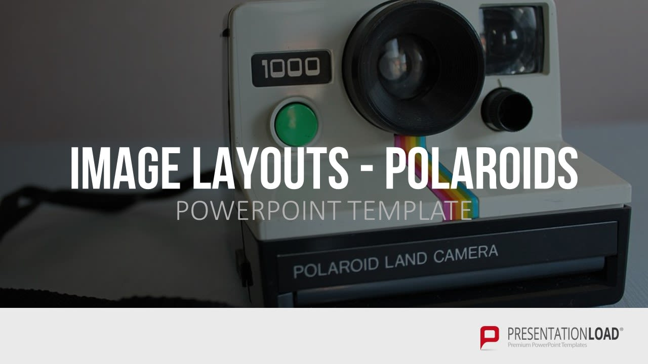 Powerpoint Präsentation - Bild Layout - Polaroid