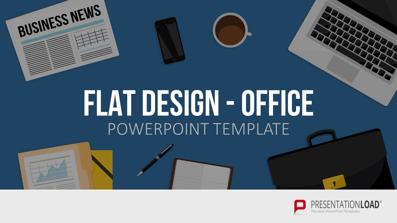 Powerpoint Präsentation - Office Motive - Flat Design