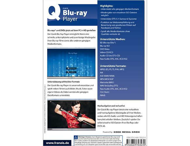 Franzis Verlag - Quick_Blu-ray Player PC