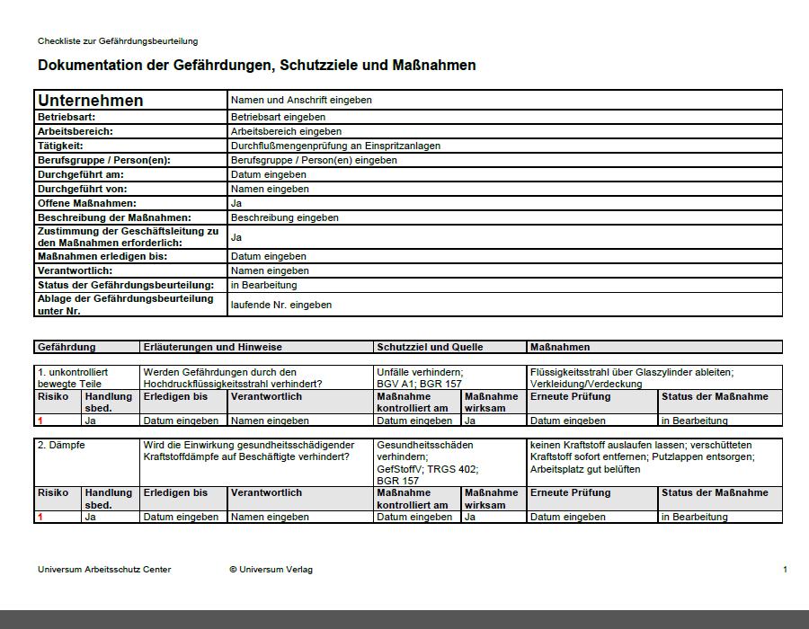 Gefahrdungsbeurteilung Bg Bau Berufsgenossenschaft 3