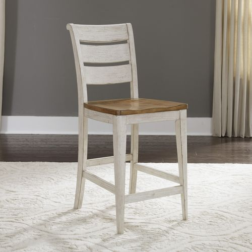 Picture of FARMHOUSE LADDER BACK STOOL