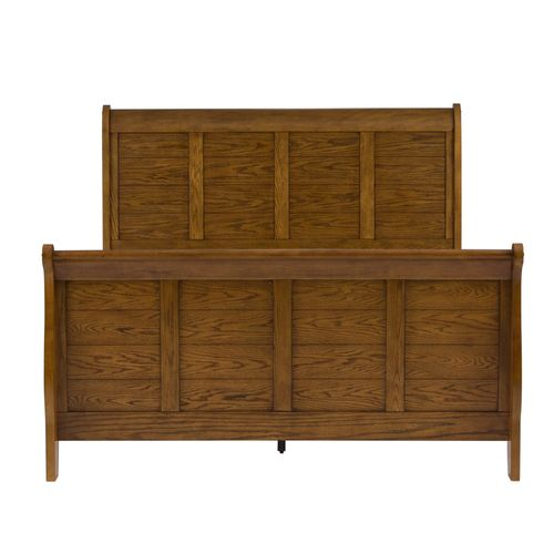 Picture of QN OAK SLEIGH BED