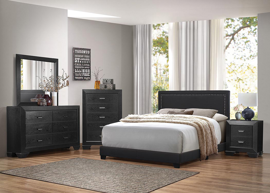 Picture of KG UPH BED W/NAILHEAD TRIM