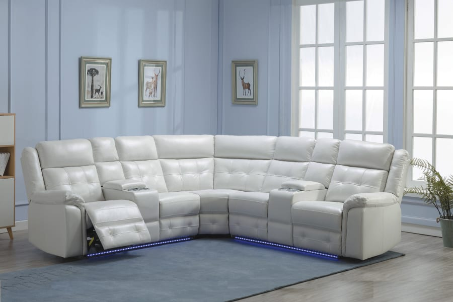 Picture of 3 PC WHT REC SECTIONAL