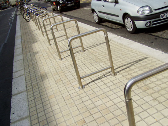 Kensington High Street Cycle Stands