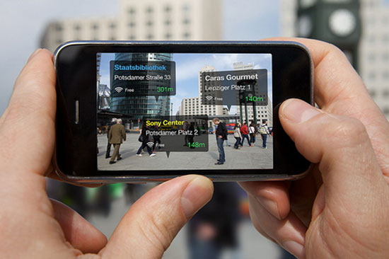 Augmented reality as seen through a mobile phone