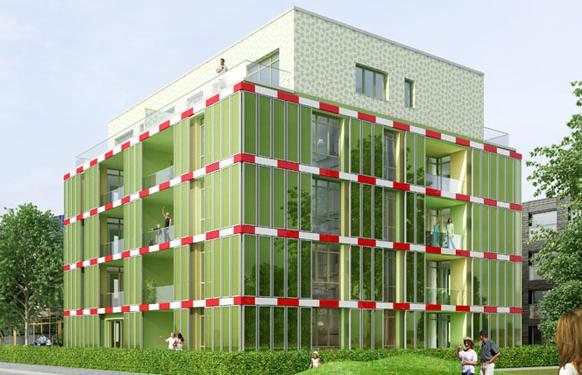 The BIQ building in Hamburg