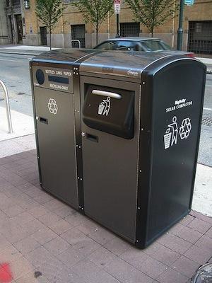 Solar powered bin