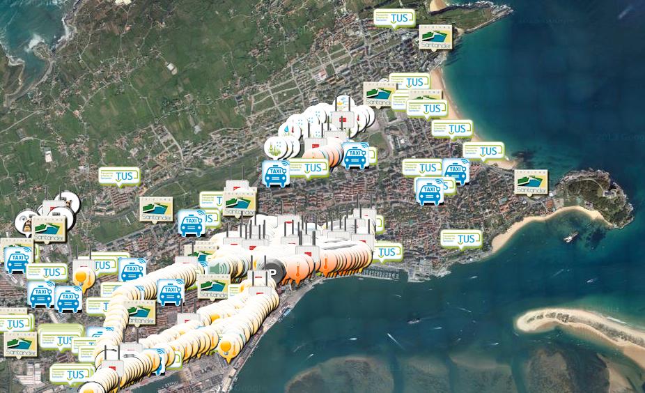 Santander citizens' smartphone app
