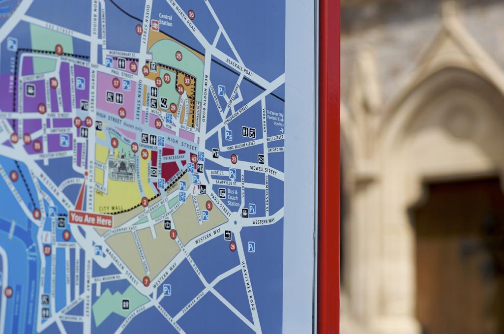Map in Reverse Applied Vinyl on Glass