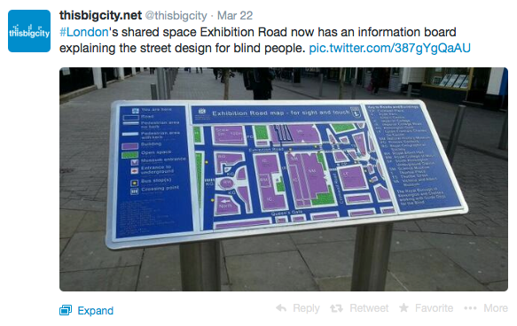 Exhibition Road information board for the visually impaired