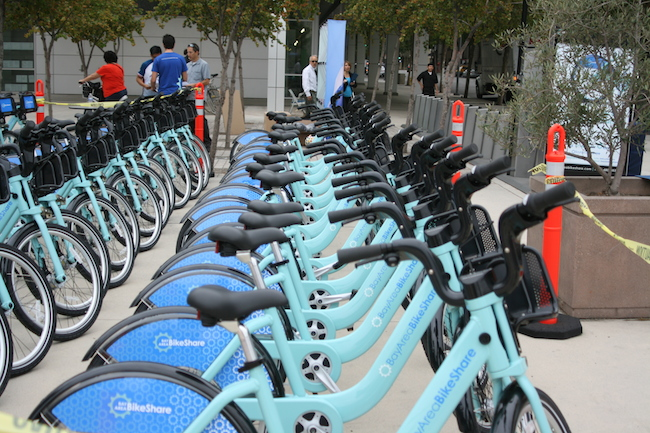 Example of bike sharing in San Jose, CA