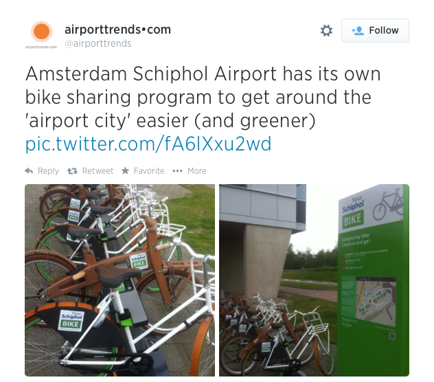 Schiphol airport bike sharing program
