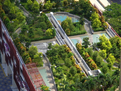 4 Intensive roof garden with trees