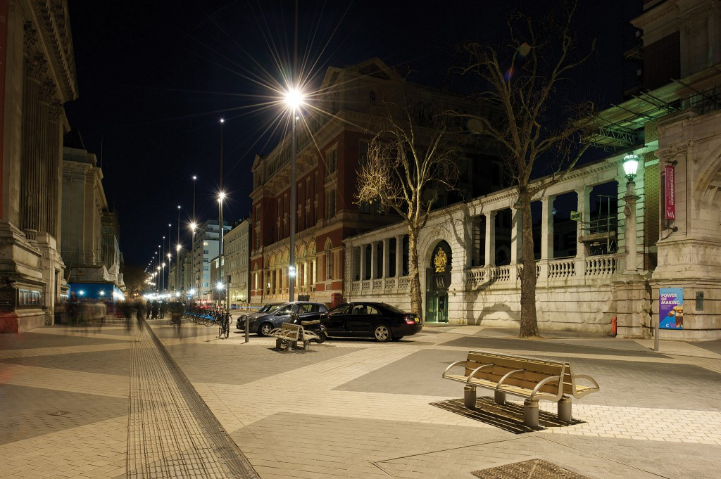 Yorkstone Granite setts at night