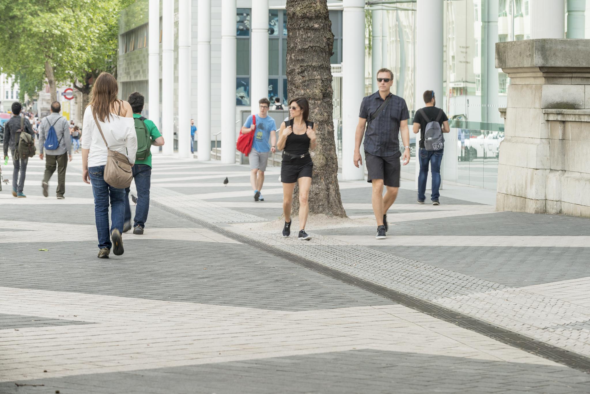 Block paving in public