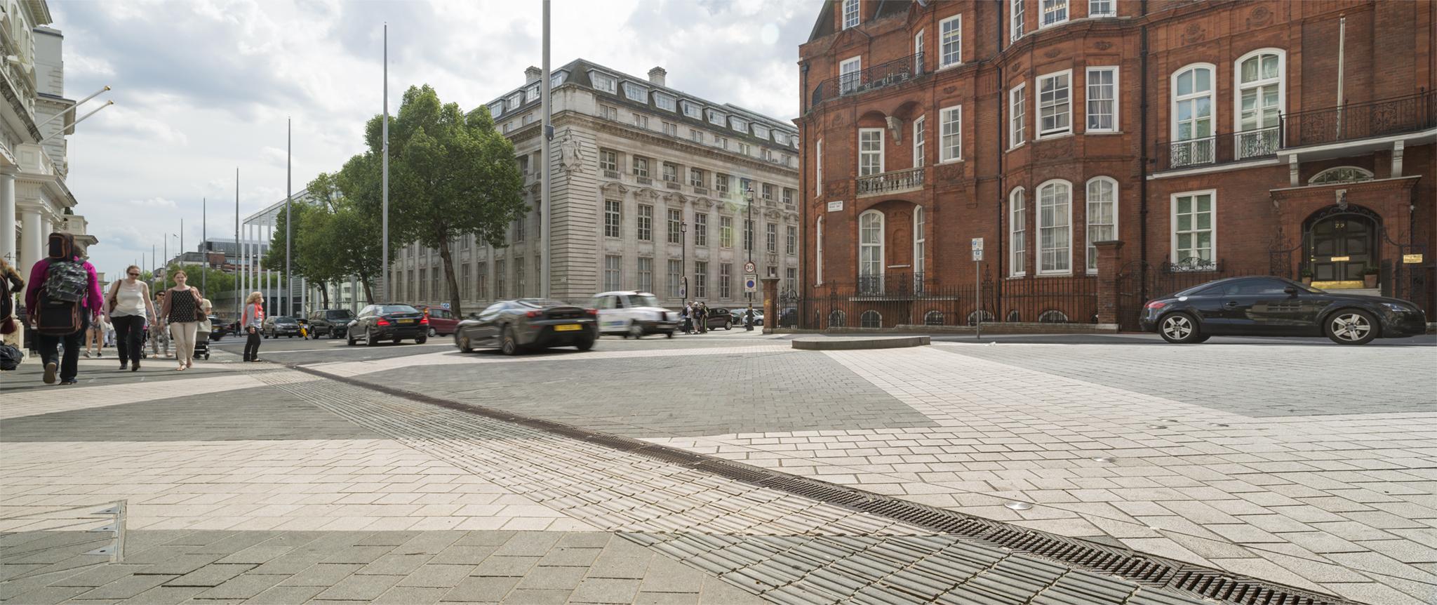 Paving in public street