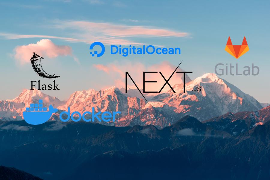 Gitlab CI/CD for Dockerize Flask and NextJS application