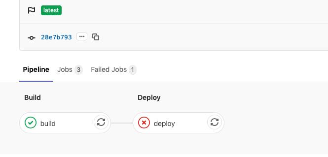 Gitlab failed stage