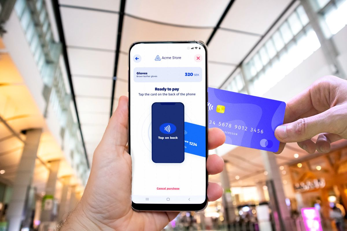 Tap to phone enables contactless card payments on any smartphone or tablet with an open NFC chip