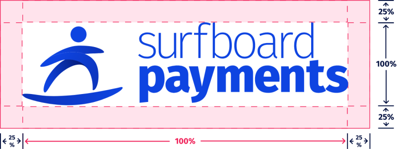 Surfboard Payments full logotype usage