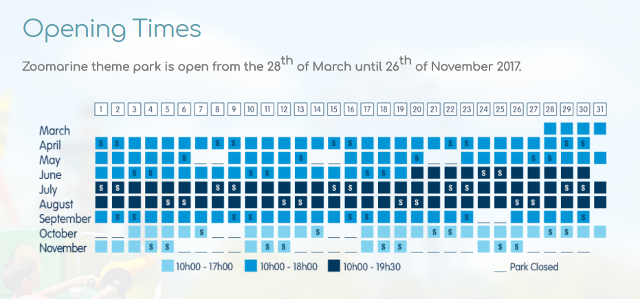 Zoomarine Opening Times
