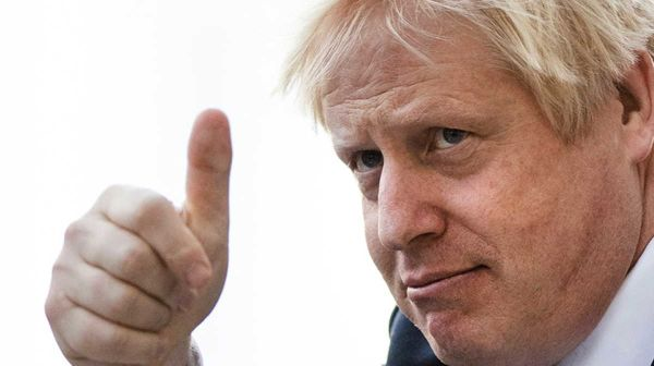 Happy Boris Johnson