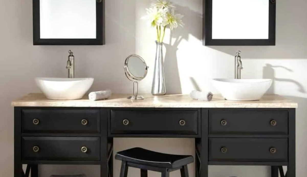Bathroom bench and stool