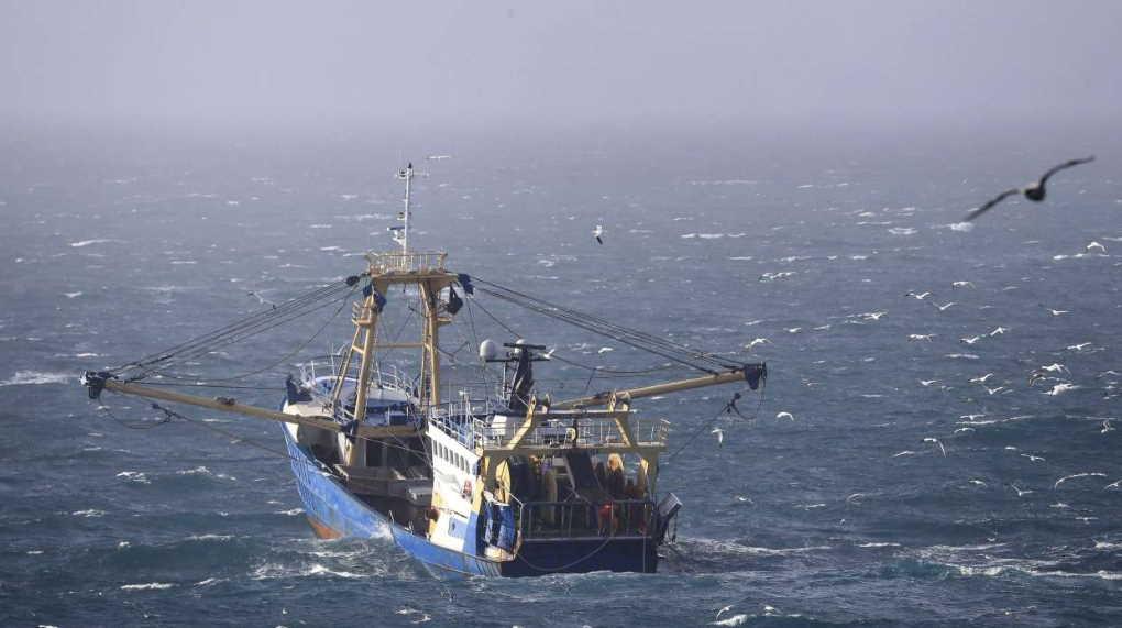 French fishermen boat