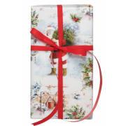 Julepapir White Christmas 38cm