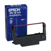 Fargebånd Epson ERC-38 sort/rød